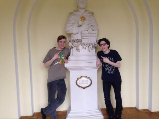 Thomas Aquinas statue at KUL