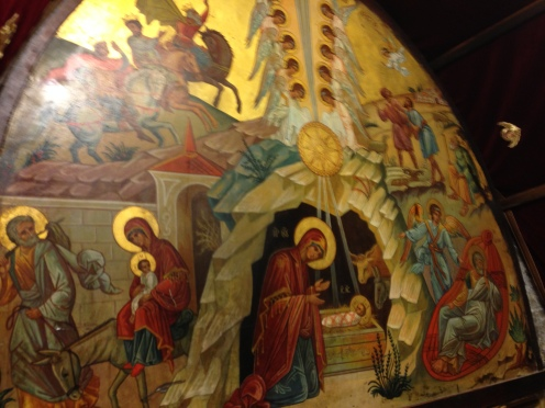 Above the Altar of the Nativity